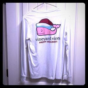 Kids vineyard vines Christmas long sleeve T-shirt